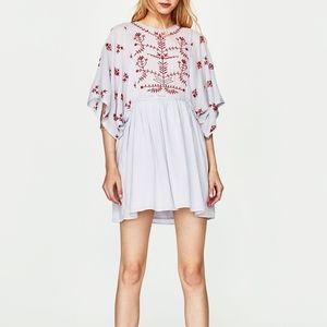 ZARA trafaluc COLLECTION embroidered DRESS